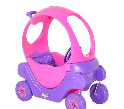 Ride On Car Carriage Princess Girl Wagon Push Plastic Toy Play Pink Toddler Kid  (Princess Wagon)