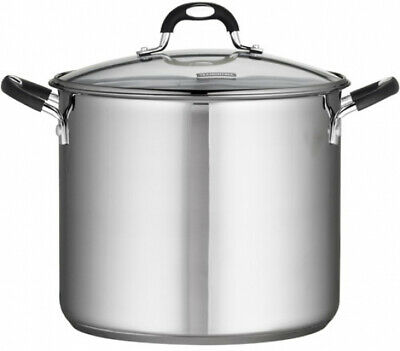 Stainless Steel Stock Pot Home Kitchen Dining Cookware Tempe