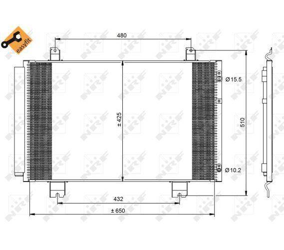 Capacitor Air Conditioning Condensor Radiator Lexus LS 460 incl. Dryer