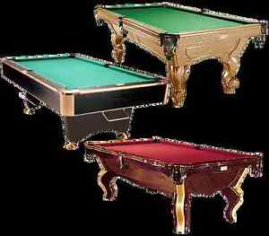 BLACK CROWN POOL TABLE MINT CONDITION  4.5 X 9'