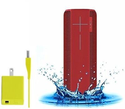 UE Ultimate Ears MEGABOOM Wireless Bluetooth Speaker, Lava Red + Charger