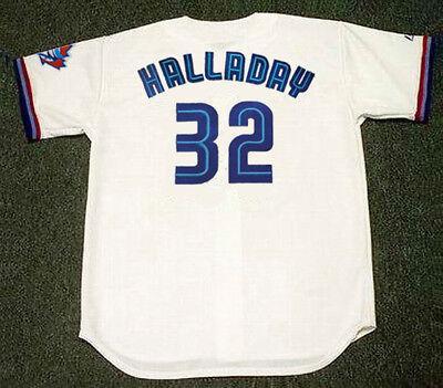 ROY HALLADAY Toronto Blue Jays 1999 Majestic Throwback Home Baseball Jersey Throwback Blue Majestic Baseball Jersey