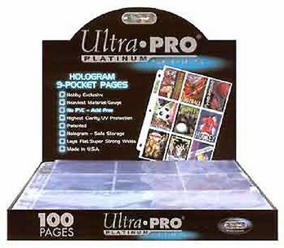 50 Ultra Pro Platinum 9 Pocket Pages Sheets Protectors Brand New