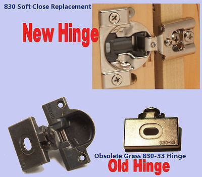 Grass 830 Upgrade Replacement hinges with SOFT CLOSE -   Sold as Pairs - NEW! (Grass Cabinet Hinges)
