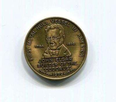 Coin   Medallion   1979 John Elgar   First Metal Hull Vellsel   Codorus