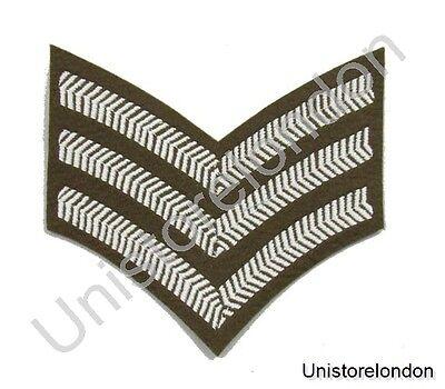 Diseño Chevron Sargento Franjas Future Ejército Dress FAD Militar Rango 3 Bares