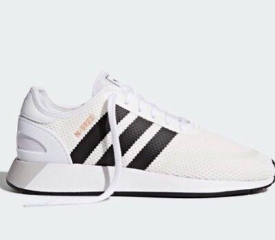 New Adidas Iniki Runner UK 10 N-5923 Iniki Runner CLS BNWT White/Black