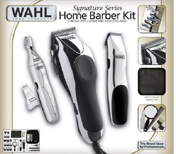 Wahl Clipper 30 Piece Hair Cut Home Barber Kit Trimmer Cl...