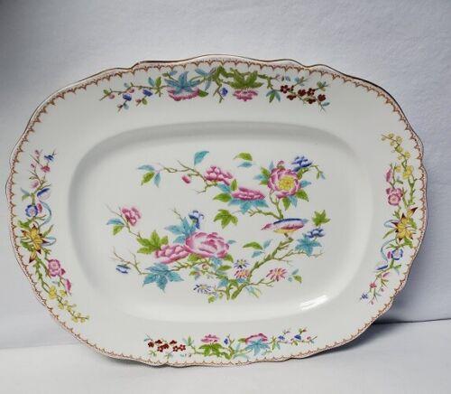 "MINTON England Cuckoo mustard trim extra Large Oval Serving Platter 19"" x 15"""