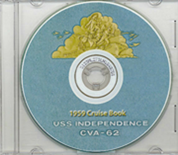 USS Independence CVA 62 1959 Cruise Book CD RARE