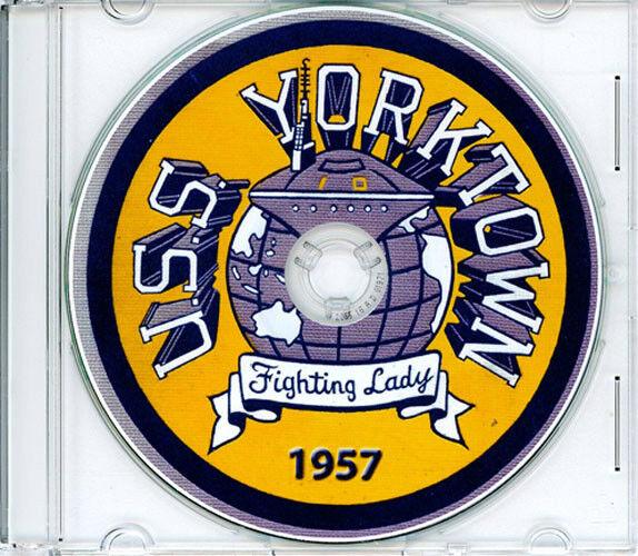 USS Yorktown CVA 10 1957 CRUISE BOOK CD Navy Log