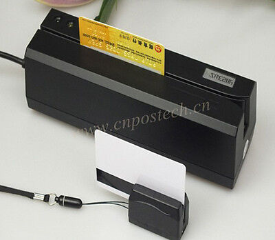 Bundle Magnetic Credit Card Writer Mini Portable Reader Msre206mini300
