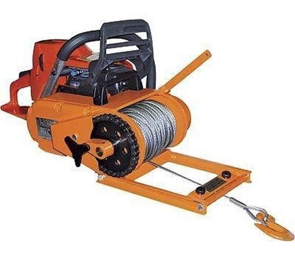 """WINCH - Chainsaw Mounted - 4000 Lb Cap - Includes 150 Ft of 3/16"""" Cable - 60 FPM"""