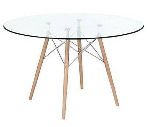 Replica Eames 120cm ROUND GLASS Top Dining Table ONLY Toowong Brisbane North West Preview