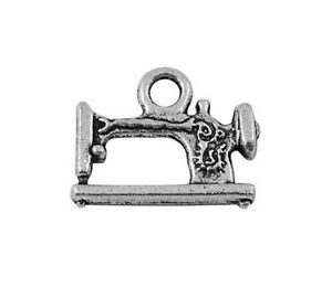 5-x-19mm-Tibetan-Silver-Sewing-Machine-Charms-Jewellery-Beading-Pendant-U57