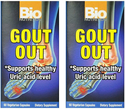 Bio Nutrition Bionutrition Gout Out 60 Vegicaps  Paks Of 2