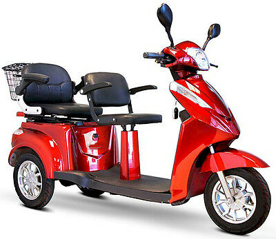 Adult Motorized Scooter, Electric Mobility Scooter, 2 persons with 2 seats
