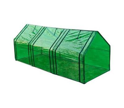 Transparent Greenhouse Protection Polytunnel Tunnel Plant Garden Fruit Veg Long