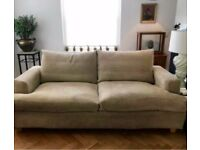 3 Seater Beige Feather Sofa