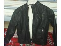 New size 4-5 years boys leather look jacket