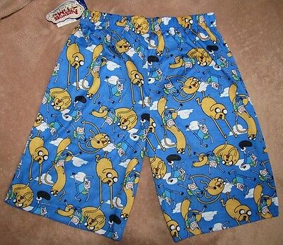 Adventure Time Jake Pajamas (ADVENTURE TIME Jake & Finn Blue Shorts Lounge Pants Pajamas Boys sz)