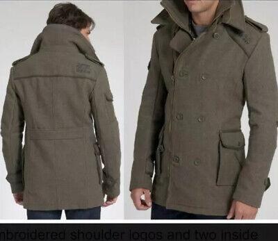 SUPERDRY REGIMENT Military British JACKET / COAT WOOL ** Size Men L