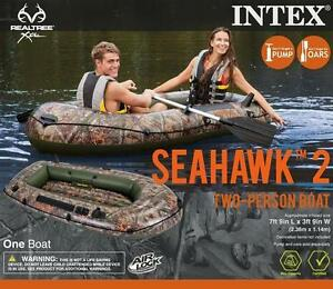 Intex Realtree Seahawk 2 Inflatable Two Person Boat