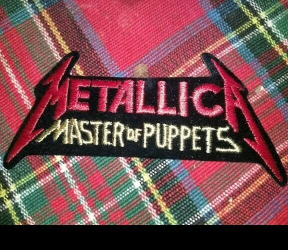 """METALLICA MASTER OF PUPPETS VINTAGE 80s JACKET PATCH 5"""""""