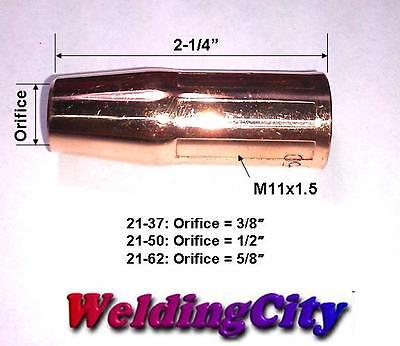 5-pk Nozzle 21-50 (1/2) Lincoln Magnum 100l & Tweco Mini/1 Mig Welding Guns