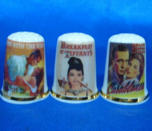 Birchcroft Thimbles -- Set of Three -- Classic Film Posters