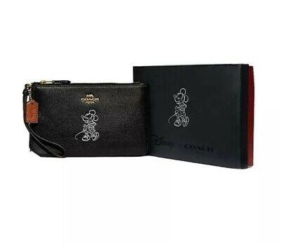 COACH BOX MINNIE MOTIF SMALL WRISTLET BOXED - Black
