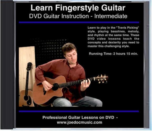 Learn Fingerstyle Guitar Lessons great on Epiphone EJ-200 DR-500 Hummingbird etc