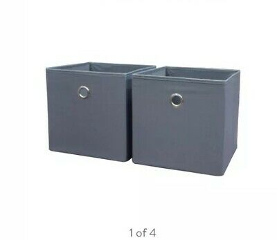 Mainstays Collapsible Storage Bins Grey Flannel - Pack of 2 (10.5