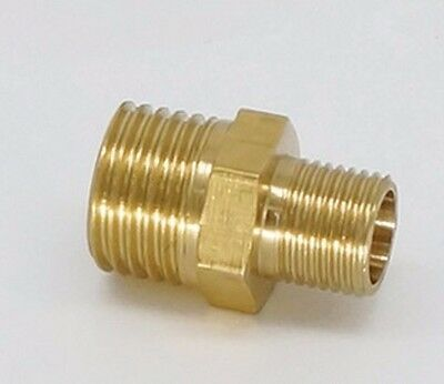"Reducer 1/8"" NPT Male to Metric M5X0.8 Male Brass Pipe Adapter Straight M-6T"