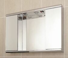 Stainless Steel  Bathroom Cabinet Mirror With Shaving Socket And Lights G2ILL