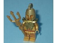 1x LEGO® Kopf zweiseitig Atlantis König Neptun Statue Bart 3626bpb0517 NEU Gold