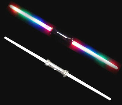 2 DOUBLE SIDED MULTICOLOR LIGHT UP SWORD toys swords wand outer space sabers toy - Double Sided Light Saber
