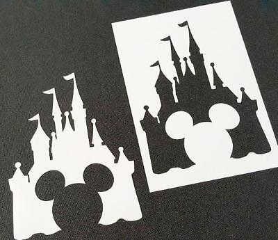 M-Size Disney Themed MICKEY MOUSE CASTLE Silhouette Stencil Party Decoration Art (Mickey Mouse Party Theme Decorations)