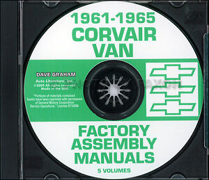 Chevy-Corvan-Corvair-95-Greenbrier-Assembly-Manual-CD-1961-1962-1963-1964-1965