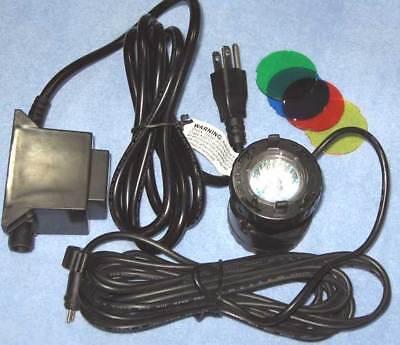 Fountain Tech Color Submersible Single 10 Watt (10W) Halogen Light, - 10w Halogen Submersible Light
