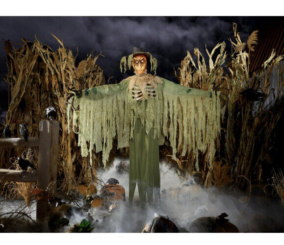 Rotten Patch Inferno Scarecrow 6 Ft Animated Indoor/Outdoo HALLOWEEN Decoration
