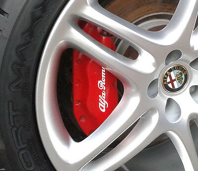 Alfa Romeo High Temp Premium Brake Calliper Caliper Decals Stickers ALL COLOURS