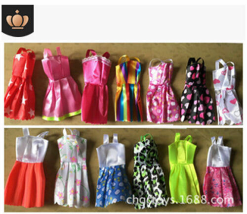 10 Pcs Dresses for Barbie Doll Fashion Party Girl Dresses Clothes Gown Toy Gift. - 7