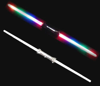 DOUBLE SIDED MULTICOLOR LIGHT UP SWORD toys swords wand outer space sabers toy - Double Sided Light Saber