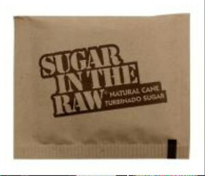 1200 PACKETS SUGAR IN THE RAW SINGLE SERVE PACKETS 100 % NATURAL PURE HEALTHY