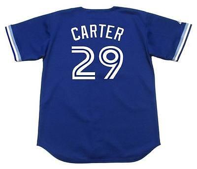 JOE CARTER Toronto Blue Jays 1994 Majestic Throwback Baseball Jersey Throwback Blue Majestic Baseball Jersey