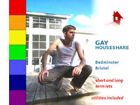 Gay central Bristol roomshare £63pw, superfast wifi, in euros or gbp, by RamiMandek