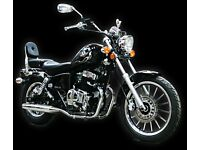 AJS *BRAND NEW* Regal Raptor 125cc Custom Cruiser. Main Dealer. Free Delivery. Warranty