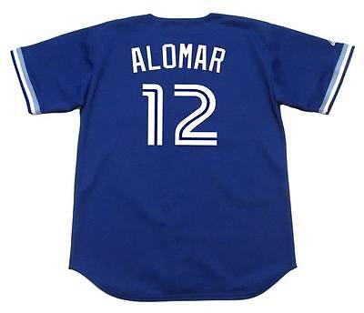 ROBERTO ALOMAR Toronto Blue Jays 1994 Majestic Throwback Baseball Jersey Throwback Blue Majestic Baseball Jersey