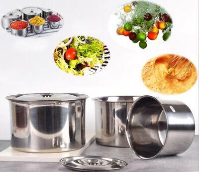 - Cheftor Stainless Steel 2.4 Qt, 1 1/2 Qt, 1 Qt, 26 Oz Bain Marie Pot + Cover Lid